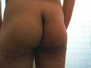 Gay Stingy Asshole Farting Back Toilet